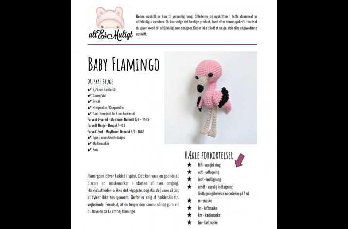 Opskrift Baby Flamingo